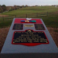 Photo taken at Woodstock original site by Kevin K. on 10/9/2014