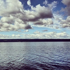 Photo taken at Cayuga Lake by Ryan P. on 7/30/2013