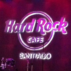 Photo taken at Hard Rock Cafe Santiago by Cristian C. on 6/2/2013