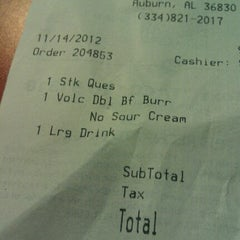 Photo taken at Taco Bell by Peter H. on 11/15/2012