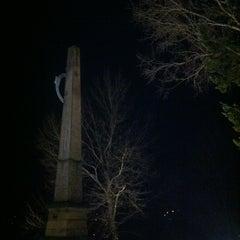 Photo taken at Riegrův obelisk by Lada B. on 12/25/2012