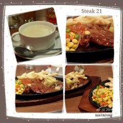 Photo taken at Steak 21 by Andrie N. on 4/10/2014