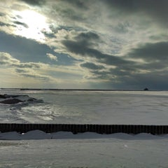 Photo taken at Lake Erie by Laura D. on 1/8/2014