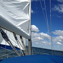 Photo taken at Lake Erie by Michael P. on 5/25/2013