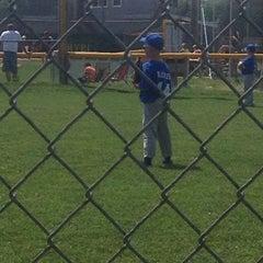 Photo taken at Russiaville Baseball Diamond by Jen G. on 6/1/2014