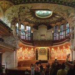 Foto tomada en Palau de la Música Catalana por MeMe K. el 6/30/2013