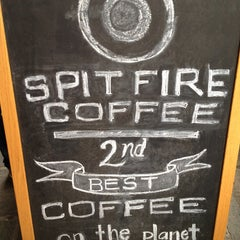 Photo taken at Spitfire Coffee by Rebecca M. on 4/18/2013