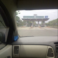 Photo taken at Gerbang Tol Cambaya by Sherly J. on 8/7/2014