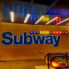 Photo taken at MTA Subway - 42nd St/Times Square/Port Authority Bus Terminal (A/C/E/N/Q/R/S/1/2/3/7) by Jeffrey P. on 5/29/2013
