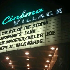 Photo taken at Cinema Village by Samantha R. on 9/15/2012