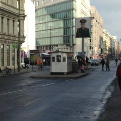 Photo taken at Checkpoint Charlie by Kenichiro H. on 2/21/2013