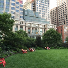 Photo taken at The Rose Kennedy Greenway by Steve J. on 7/12/2015