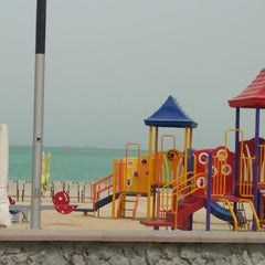 Photo taken at Al Yazwa Public Beach by Ahmed B. on 8/18/2014