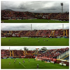 Photo taken at Estádio Arena Joinville by Paulo Henrique S. on 3/17/2013