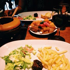 Photo taken at Fondue Huisje Le Bourguignon by Stephanie P. on 8/8/2015