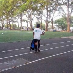 Photo taken at 101 Street Soccer Field by Mark F. on 9/5/2013