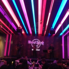 Photo taken at Hard Rock Cafe Santiago by Bruno P. on 7/26/2013
