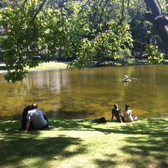Photo taken at Parc Léopoldpark by Olivier V. on 7/21/2013