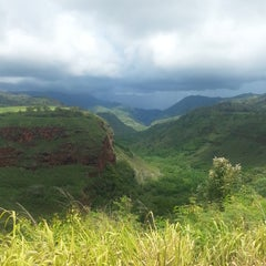 Photo taken at Hanapepe Canyon Lookout by Sandra on 10/1/2014