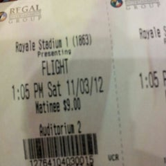 Photo taken at Regal Cinemas Hyattsville Royale 14 by James M. on 11/3/2012
