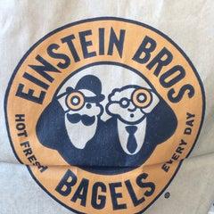 Photo taken at Einstein Bros Bagels by Eve E. on 5/18/2014