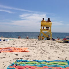 Photo taken at Civic Beach (Point Lookout) by danielle j. on 6/28/2014