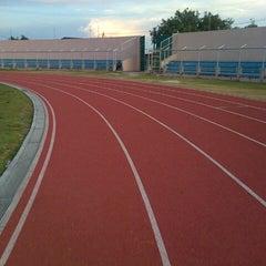 Photo taken at Stadion Pahoman by Dimas N. on 11/29/2012