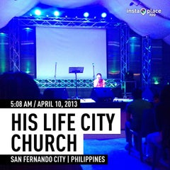 Photo taken at His Life City Church by Jamyl Marc C. on 4/9/2013