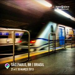 Photo taken at Estação Portuguesa-Tietê (Metrô) by Richard M. on 3/11/2013