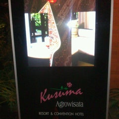Photo taken at Kusuma Agrowisata Resort & Convention Hotel by Muhyi U. on 2/24/2013