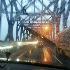 Photo taken at General Pulaski Skyway by Betsy L. on 3/12/2013
