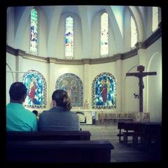 Photo taken at Igreja Matriz de Lucélia by Caio P. on 3/29/2013