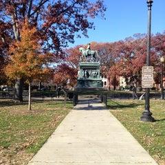Photo taken at Logan Circle by William l. on 11/17/2012