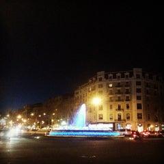 Photo taken at Passeig de Gràcia by Ruben V. on 3/30/2013