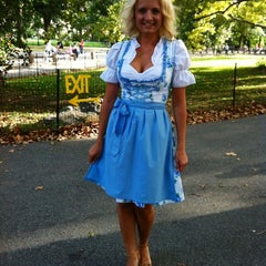Photo taken at Oktoberfest In Central Park by Marinka Y. on 9/21/2013