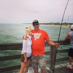 Photo taken at Avon Fishing Pier by Michael M. on 7/17/2014