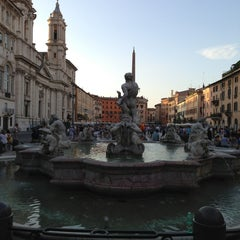 Photo taken at Piazza Navona by Nicole F. on 7/29/2013