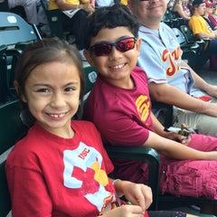 Photo taken at Dedeaux Field by Christine G. on 5/24/2015