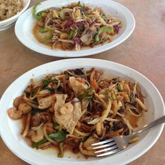 Photo taken at Bali Hai Mongolian Grill by Brittany on 4/24/2014