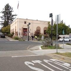 Photo taken at Joe Rodota Trailhead (116 East entry) by Jennifer W. on 10/21/2012
