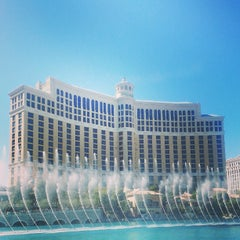 Photo taken at Fountains of Bellagio by Heidi G. on 3/13/2013
