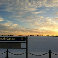 Photo taken at South Campus LRT Station by Monique M. on 11/15/2012