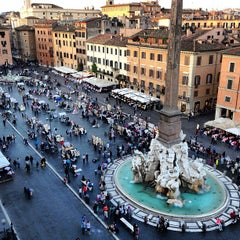 Photo taken at Piazza Navona by Antonio P. on 4/18/2013