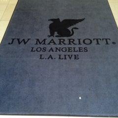 Photo taken at JW Marriott LA Live by Stuart R. on 4/17/2013