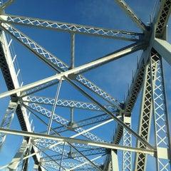 Photo taken at Outerbridge Crossing by Sarah K. on 12/28/2012