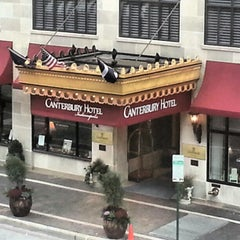 Photo taken at Canterbury Hotel by Laura W. on 11/6/2012