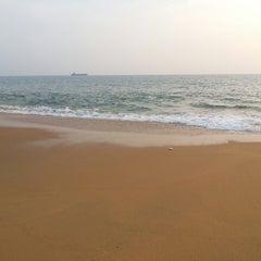 Photo taken at Kollam Beach by Soufal K. on 12/16/2013