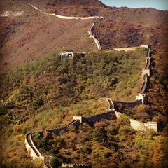Photo taken at 慕田峪长城 Great Wall at Mutianyu by sacha J. on 10/22/2012