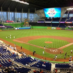 Photo taken at Marlins Park by Andrew P. on 4/15/2013