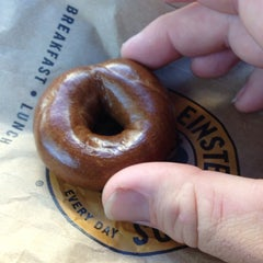 Photo taken at Einstein Bros Bagels by Tom B. on 9/28/2013